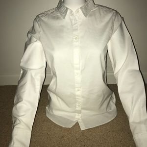 NWT H&M White Classic Button Up